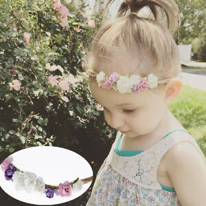 Cute Newborn Baby Girls Toddler Kids Flower Party Headband Hair band Photo Prop