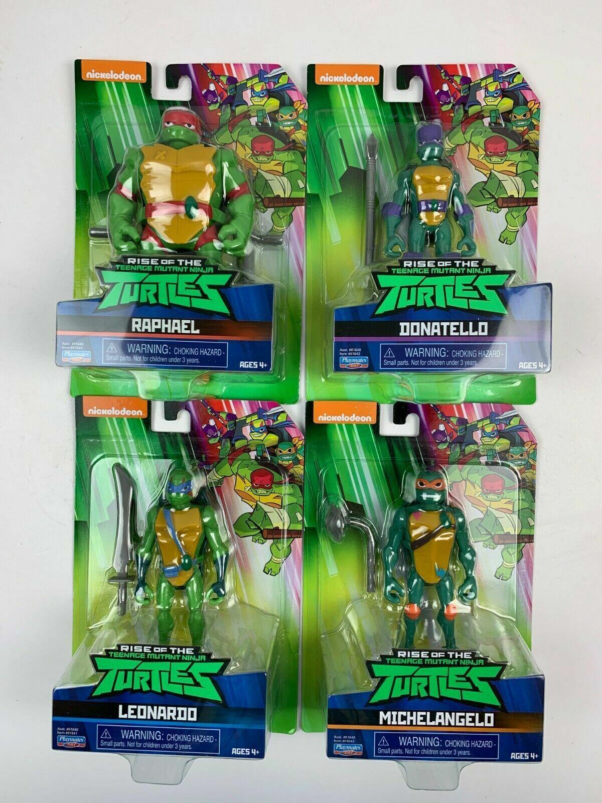 Rise of the Teenage Mutant Ninja Turtles Complete Set of 4 Turtle Wirkung Figures
