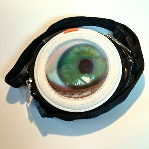 Hi-Di-Hi-Travelbaggie-Crossbody-5-034-Rd-Wtrprf-Poly-Eye-Blink-Adjust-Strap-Pkts-EUC
