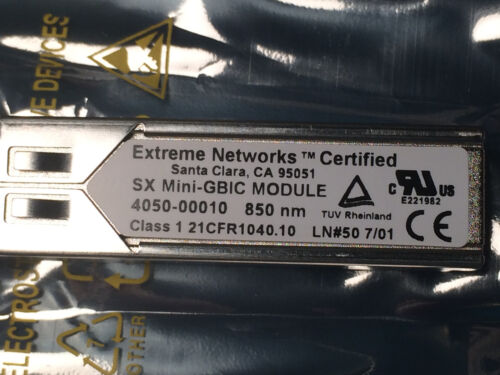 EXTREME NETWORKS SX mini-GBIC Transceiver Model 10051 Certified BRAND NEW in Box