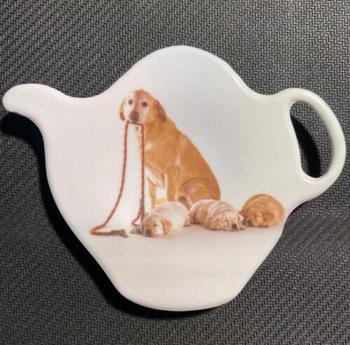 Tea Bag Plate Holder ASHDENE Dishwasher Safe Dog and Puppy Tea Spoon Rest