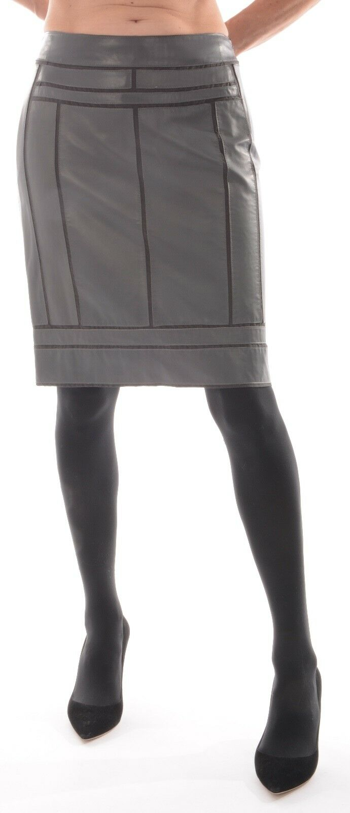 Loewe ROCK PELLE ROCK ROCK ROCK grigio in pelle esclusivo Matita Forma D 36 38 VVP 1290,- 3b42c0