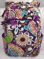Vera Bradley Large Laptop Backpack - Plum Crazy - Padded Section - Brand