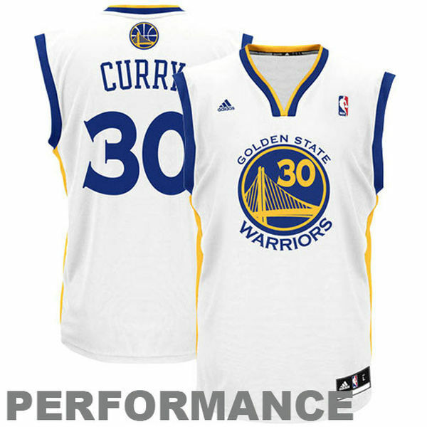 NBA golden State Warriors Stephen Curry Youth Jersey - White