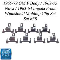 1965-75 Nova / Impala / Gm F Body Front Windshield Molding Clip Set