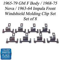 1965-75 Nova / Impala / Gm F Body Front Windshield Molding Clip Set
