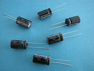 20pcs 1000uF 16V 105C Electrolytic Capacitor 10X17