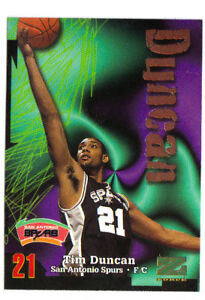 Details About 97 98 Skybox Z Force Tim Duncan Rookie Card Rc 111