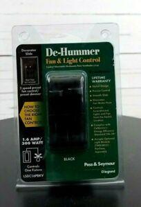 DE-HUMMER-FAN-amp-LIGHT-BLACK-1-6-AMP-300-WATT-CONTROLS-1-FIXTURE