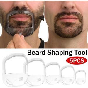 5pcs Shaving Template Shaper Mens Goatee Style Design Beard Mustache