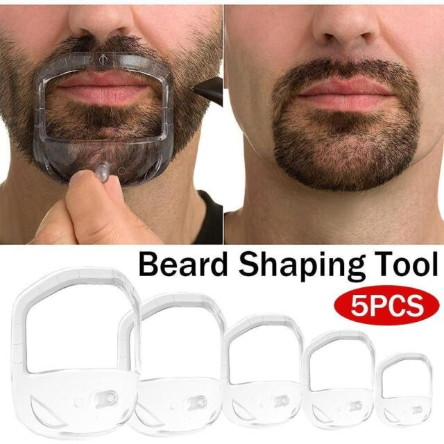 5Pcs Shaving Template Shaper Mens Goatee Style Design Beard Mustache Guide Tool