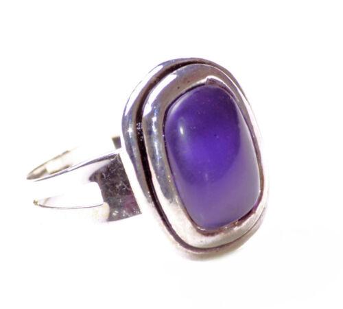 Cromo una talla única para todos Lujoso violeta opaco centrado Anillo de piedra Zx76