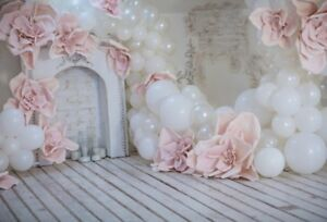 Pastel Milky Balloons Flowers Photography Backgrounds