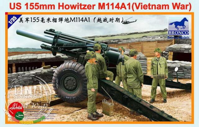 Bronco Model kit 1/35 US 155mm Howitzer M114A1 (Vietnam War) CB35102