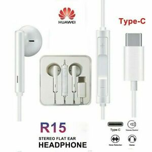 Huawei-P20-Pro-Mate10-USB-Type-C-Earphone-Stereo-Headphones-w-Mic-amp-Volume-UK