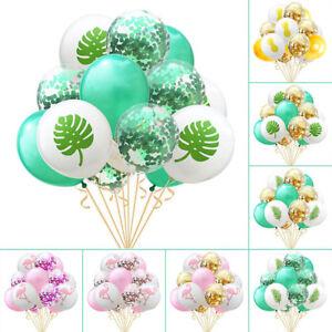 12-034-Latex-Flamingo-Tropical-Leaf-Pineapple-Balloons-Confetti-Party-Wedding-Decor