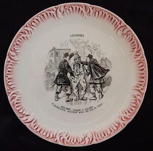 A-039-Assiette-parlante-DIGOIN-SARREGUEMINES-Serie-034-LEGUMES-Panier-a-salade-034-TBE