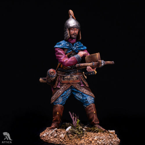 Chinese Сrossbowman XIII cent 54mm Tin Painted Toy SoldierArt