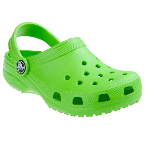 Crocs Kid/'s Classic Crocs Lime Taille UK Nourrisson 4//5 UK 2
