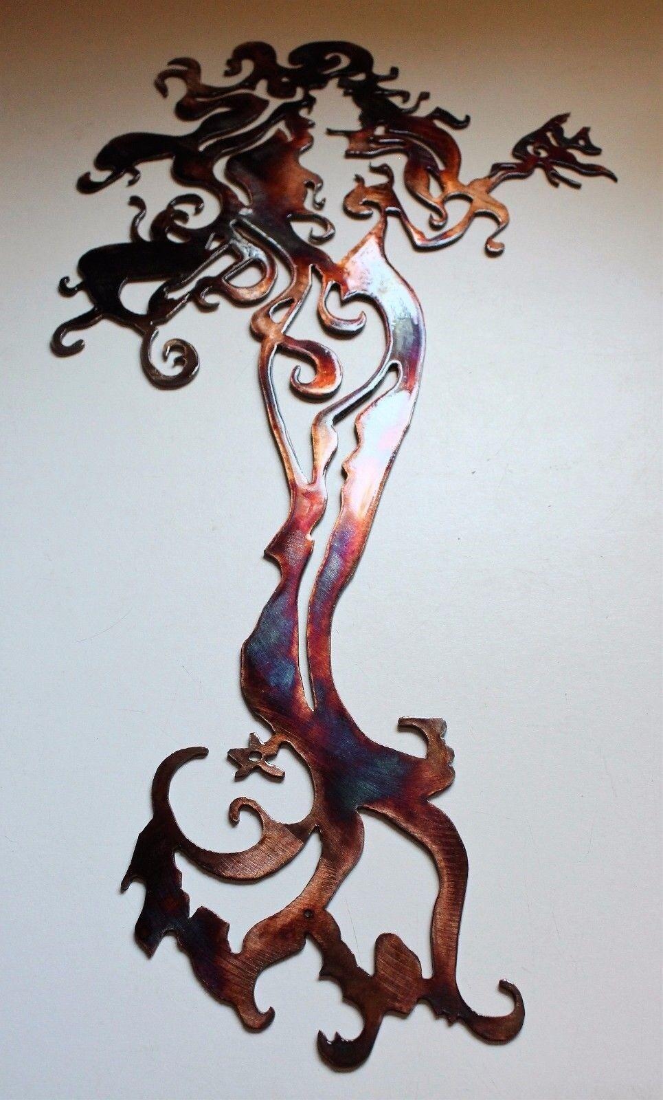 Meerjungfrau Stehend Hoch Metall Wandkunst Kupfer Bronze 30   Hoch | Feinen Qualität
