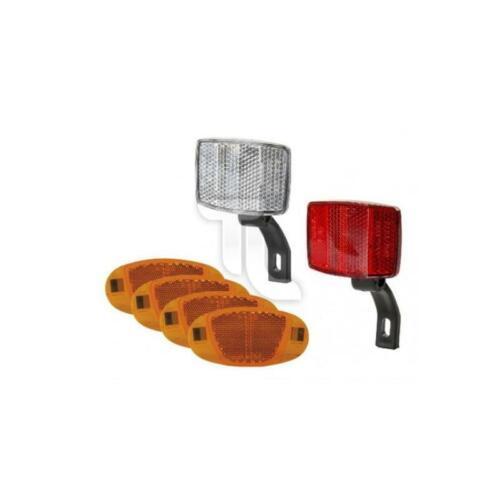 Ventura Reflektor-Set 4x Speichenreflektor 1x weiß und rot NEU Reflektoren