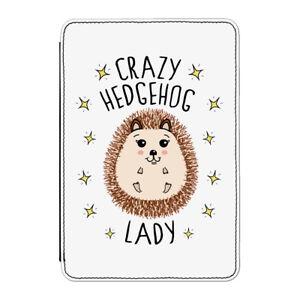 Crazy-Porcospino-Lady-Custodia-Cover-per-Kindle-6-034-E-reader-Divertente-Carino
