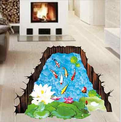 3D Hagedorn Koi Boden Aufkleber Badezimmer Kinder Zimmer ...