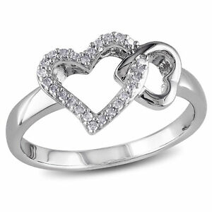 Amour-Sterling-Silver-Diamond-Heart-Ring