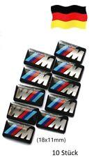 M Power BMW Alu Felgen Emblem Aufkleber 10x 3D Sticker M Logo Lenkrad 18x11mm