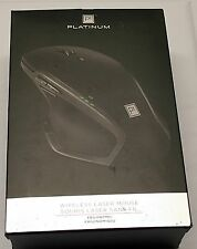 Platinum Wireless Ergonomic Laser Mouse (Black) - Pt-Pnm6505-Bk-C