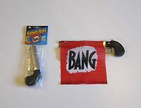 1 Bang Gun Pistol With Flag Comedy Prop Guns Gag Gift Magic Trick