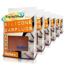 Ruido 6x-x tapones para los oídos de silicona vuelo Multipropósito dormir Swim