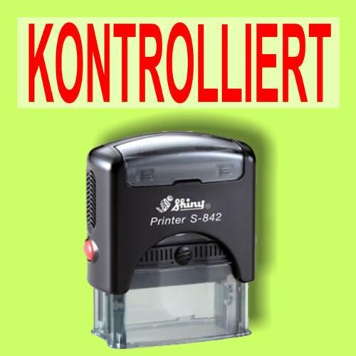 KONTROLLIERT Shiny Printer Schwarz S-842 Büro Stempel Kissen Rot