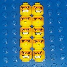 Lego Accessories Minifigure Head lot x 10 orange mask double sided Exo-force