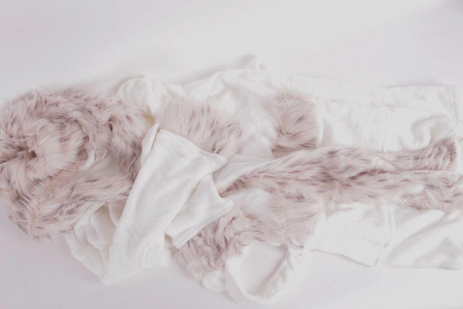 Nouveau PB POTTERY BARN Teen Fourrure synthétique de bain à capuche taille unique Chat