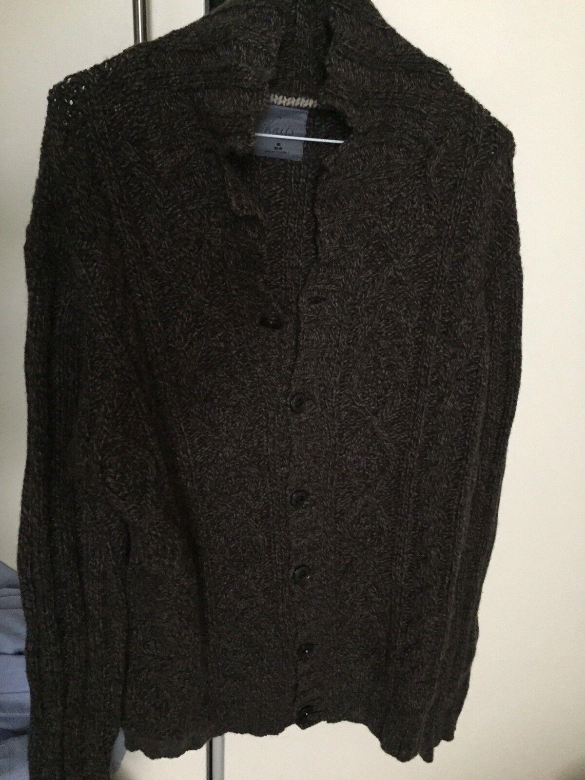 Peuterey knits Braun classic heavy knit button down cardigan Größe XL (Italian)