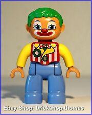 Lego Duplo Clown (47394pb151) - Circus Figure Lego Ville - NEW / NEU