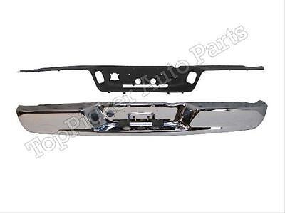 CH1102371 CH1191110 Rear New Kit Step Bumper Face Bar for Truck Chrome Ram 1500