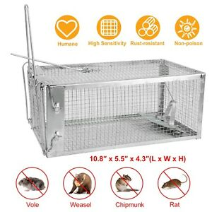 Humane-Small-Live-Animal-Control-Steel-Trap-Cage-10-8-x5-5-x4-3-Squirrels-Mice