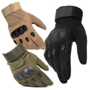 Tactical-Gloves-Hard-Knuckle-Full-Finger-Military-Army-Combat-Hunting-Shooting