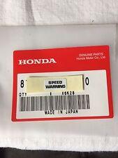 Genuine Honda Z50J Speed Warning Decal Z50 ST70 Monkey Bike Dax Z50m