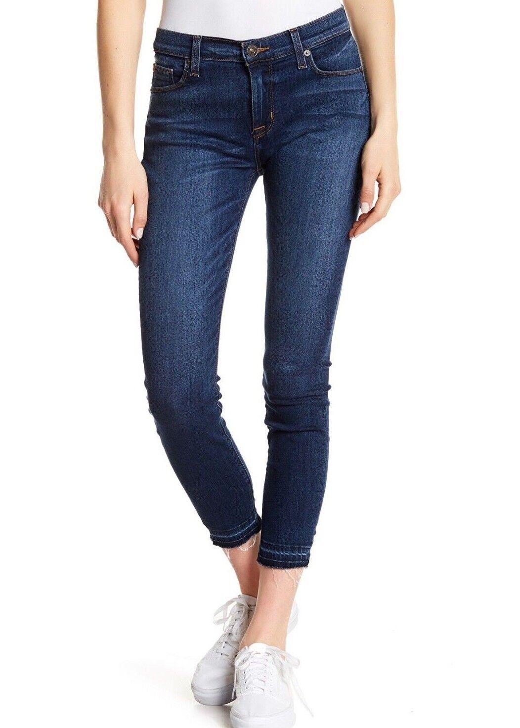 Nwt Hudson Sz27 Natalie Midrise Roh Knöchel Skinny-Stretch Jeans Gratitude