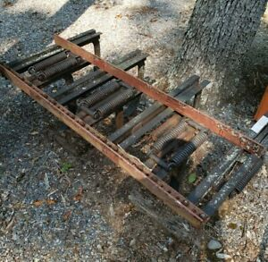 Heavy Duty Spring Tooth Harrow Plow (missing three point hitch) - Working!