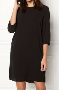 ONLY-Women-039-s-Black-3-4-Solid-Dress-Black-Size-14-New-With-Tags
