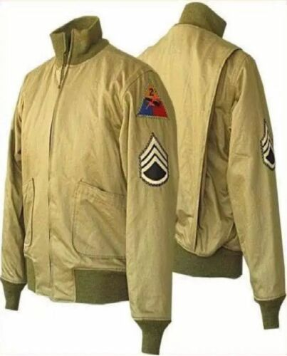 Tanker Military High Jacket Khaki Fury Ww2 Pitt New Quality Cotton Brad Brand xF0Fwdrqt