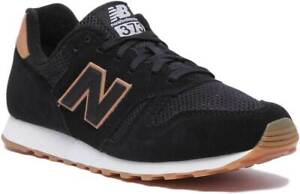 timeless design 48ea0 96714 Details about New Balance 373 Modern Classic Women Suede Mesh Trainers In  Black Size UK 3 - 8
