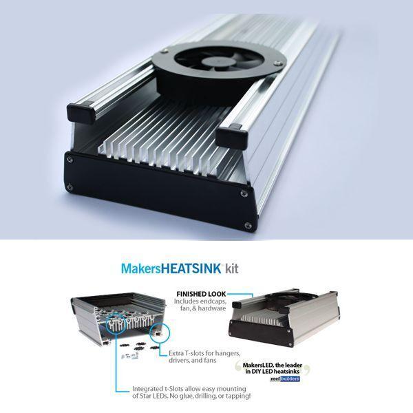 18 in MakersLED DIY aluminum heatsink kit  t Slot mounting Maker LED heat sink