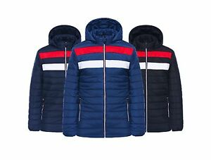 Mens-Quilted-Designer-Fashion-Jacket-Padded-Bubble-Puffer-Hooded-Zip-Coat-3-CLRS