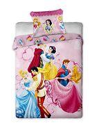 Copripiumino Singolo Cotone 140x200 Disney Principessa Principesse Festa Ballo