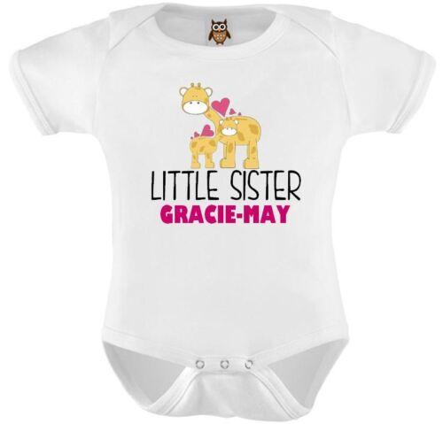Gilet bébé personnalisé body petite Soeur nommée bébés cadeau soeur plus âgée